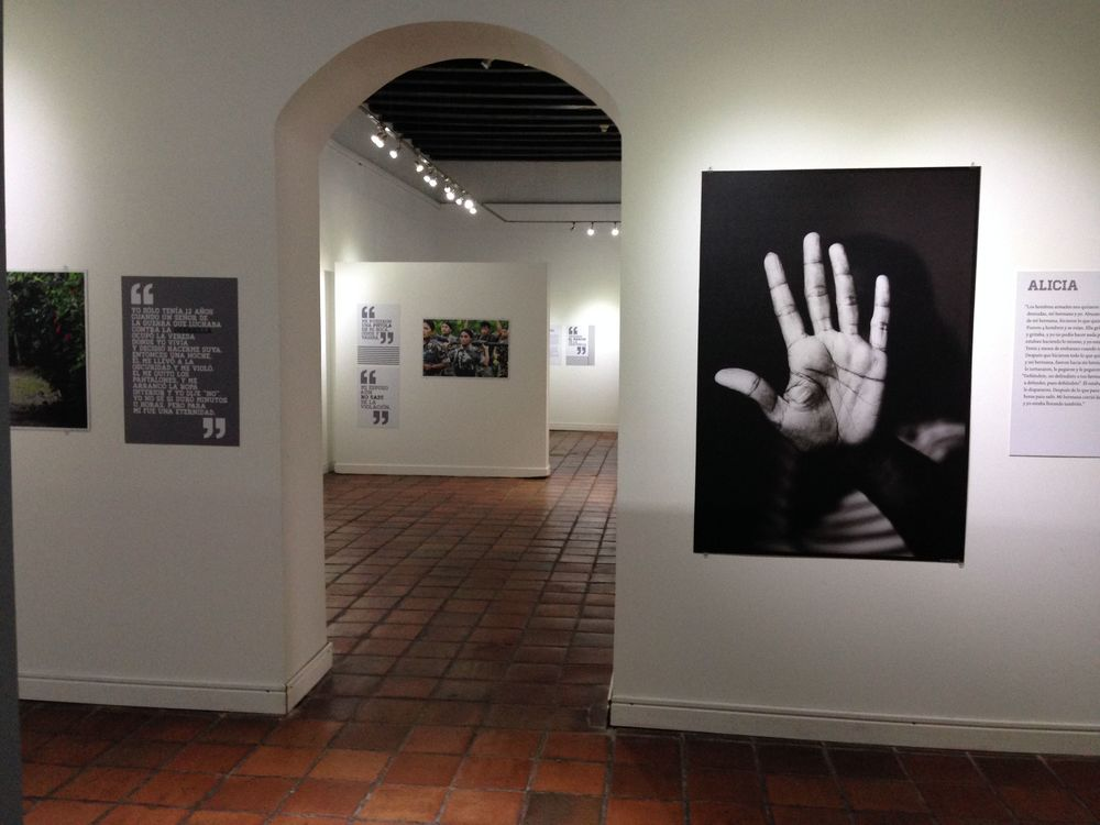 """The Legacy of Rape"" on display in Santa Marta, Colombia."