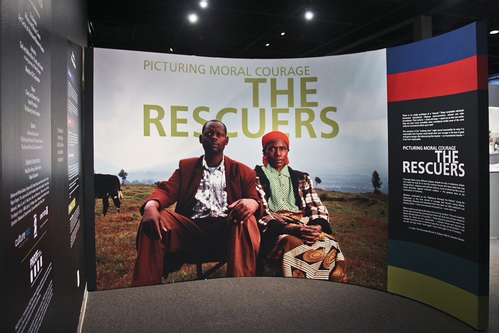 """Picturing Moral Courage: The Rescuers"" on display at the Holocaust Museum Houston."