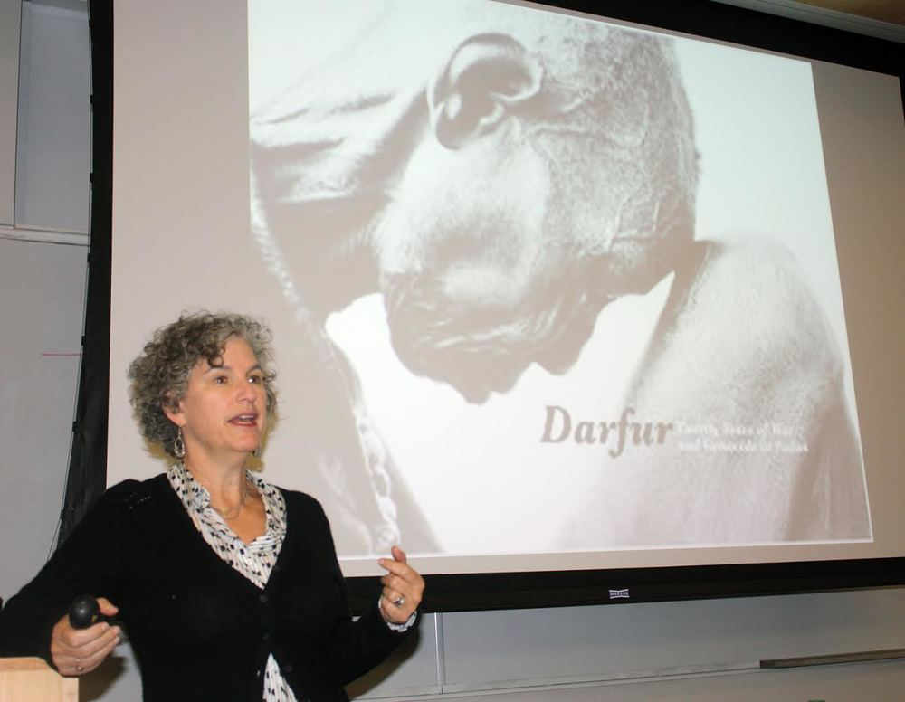 Executive Director Leora Kahn giving lecture at Colorado State University