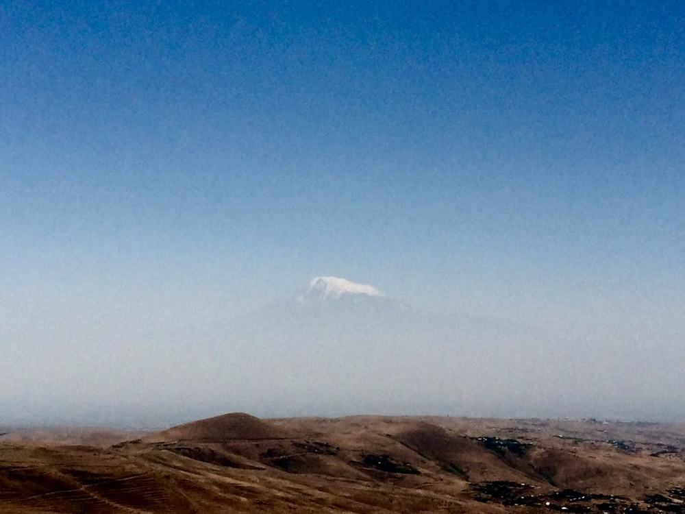 A rare peek at the summit of Mt Ararat. Courtesy of Willhemina Wahlin