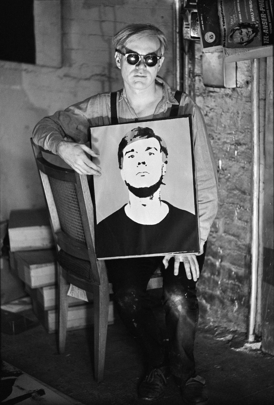 William John Kennedy has donated Warhol Sitting with Self-Portrait SB