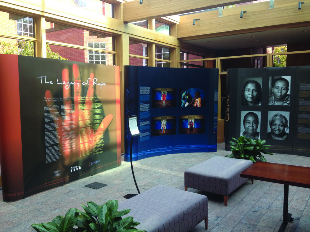 The Legacy of Rape exhibition, on display at Yale University