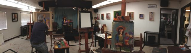 The studio/ classroom where we paint