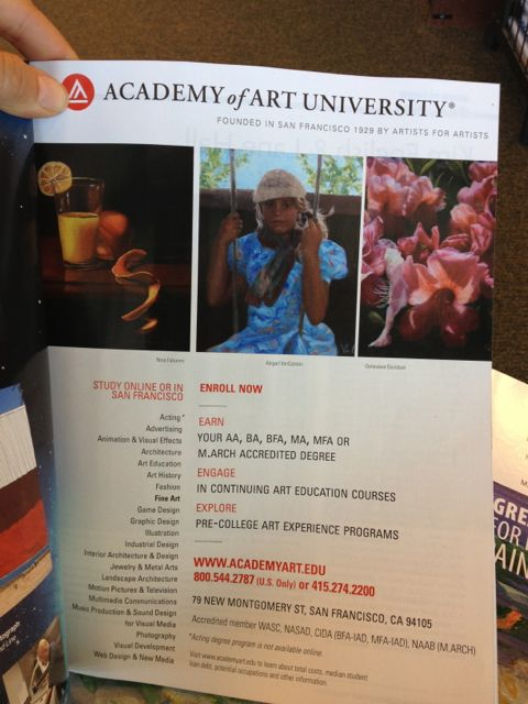 Day Dream  was in Academy of Art advertisement in SouthWest Art Magazine - May 2013