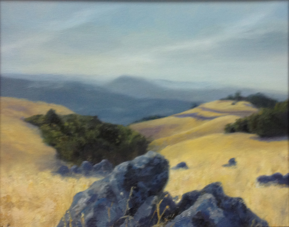 San Jose Black Mountain, 16x20,Oil on Canvas, Value $600 Starting Bid: $250