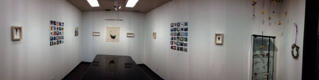 panorama view of gallery space