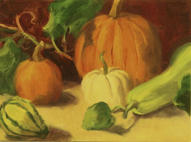 Colorful Harvest - Oil - 9x12 - $375