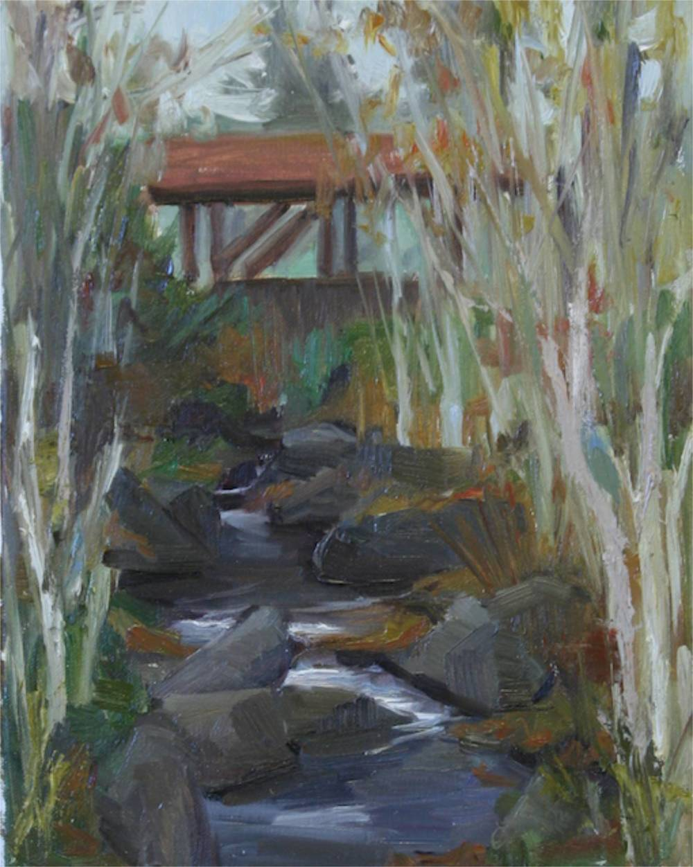 Autumn Creek - 8x10 - oil ©2013
