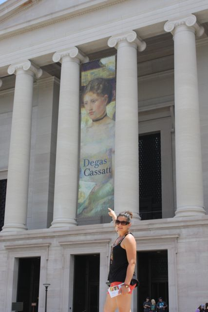My favorite museum was the National Gallery of Art followed closely by the Holocaust Memorial  Museum. I think National Gallery won out because they not only had an inspiring show of Cassatt and Degas, but many Sargent's as well!