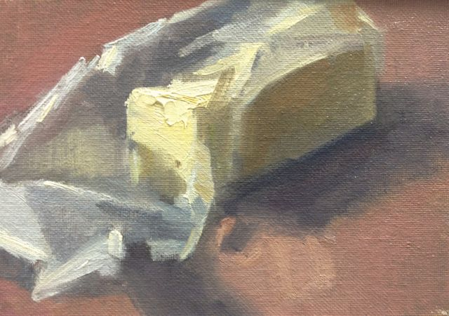 Stick of Butter - Oil on Canvas - 5x7 - ©2014