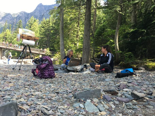 Lunch break by the Flathead River in Glacier National Park.