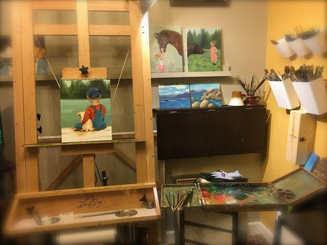 Boy's Best Friend - Work in Progress - Oil on Canvas #2hrchallenge #sacto2hrchallenge