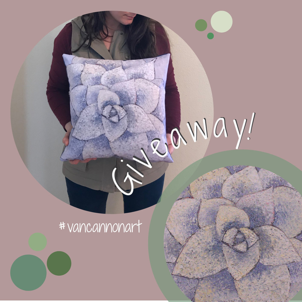 Instagram Giveaway - Don't miss out on your chance to win one of my Succulent Throw Pillows