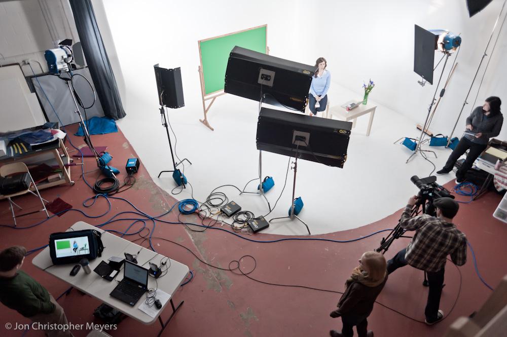 Iris Media shooting in the studio.