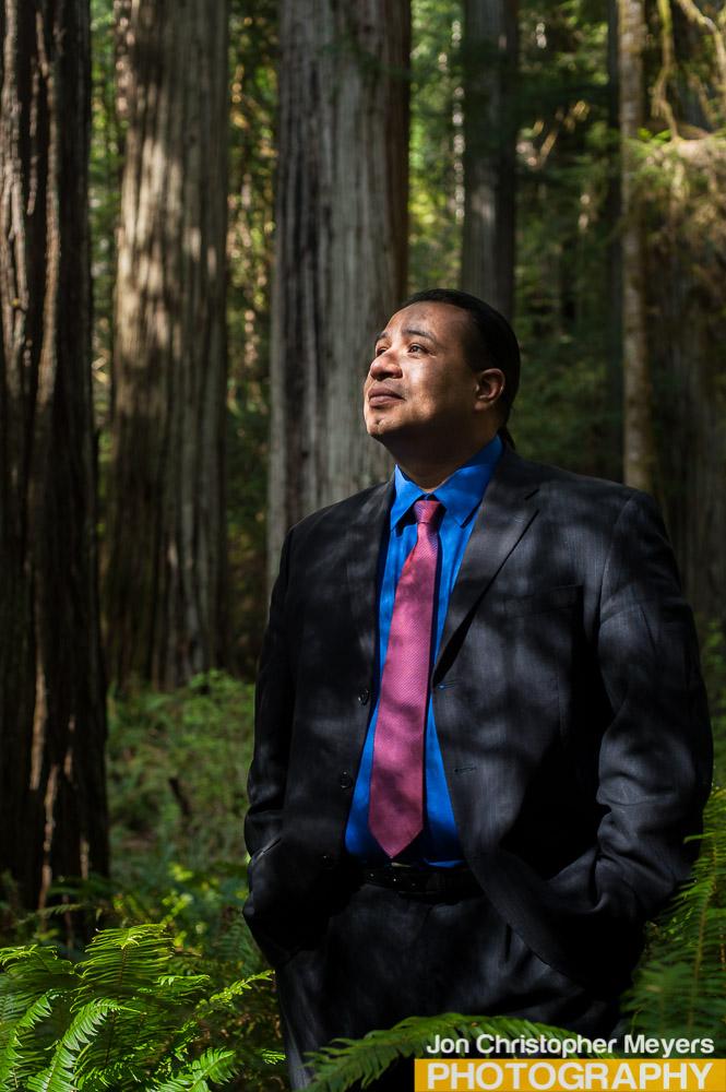 Javier Kinney in the Redwoods