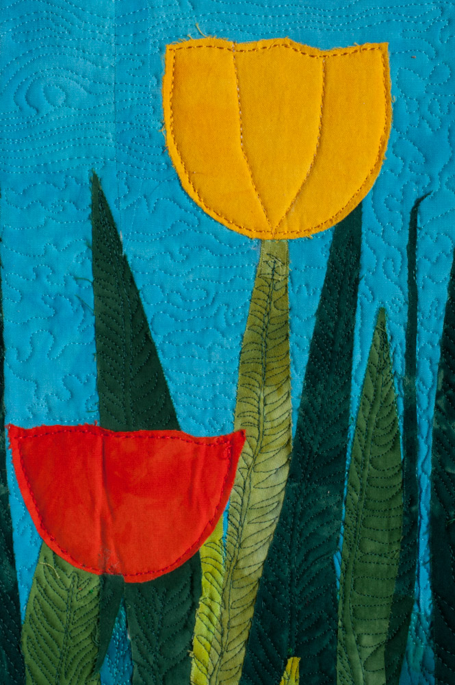Lynda Christiansen, Six Tulips, detail