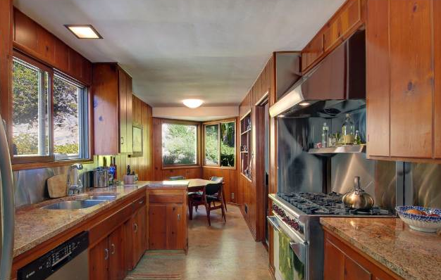 Light filled kitchen with original 1951 details.