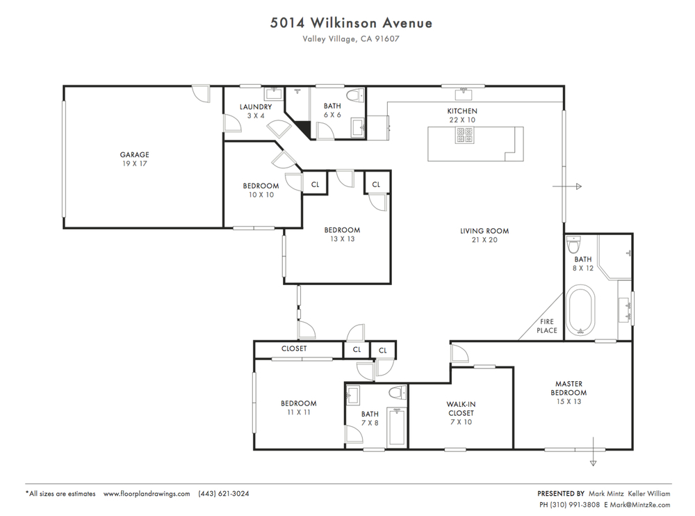 5014 Wilkinson Ave. Floorplan