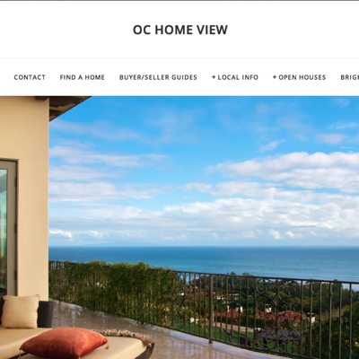 Roland runs his real estate site OC Home View through Squarespace.