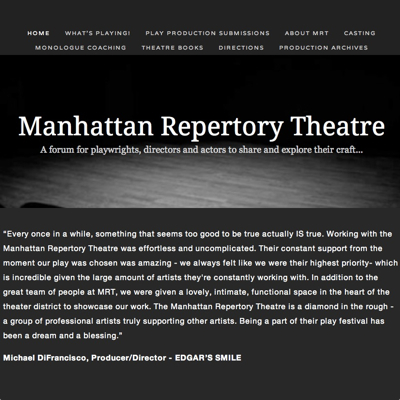 Ken runs the Manhattan Repertory Theatre site through Squarespace.