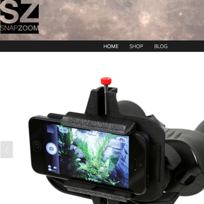 Entrepreneur Shawn - aka Doc - built the site and the store to sell SnapZooms through Squarespace.