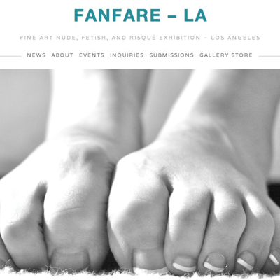 The page for the  photography show Fanfare LA was made using Squarespace!