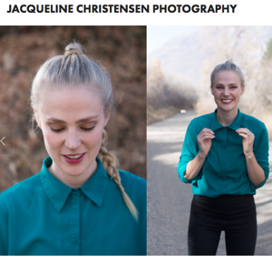 Jacqueline built her online photography portfolio using Squarespace.