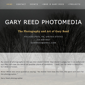 Check out Gary Reed Photo Media, made with Squarespace.