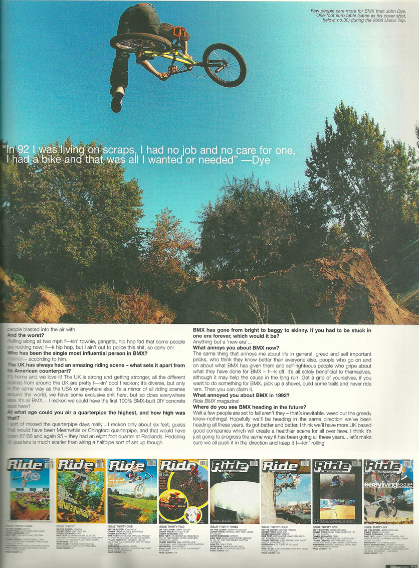 Dye Ride 100 issue