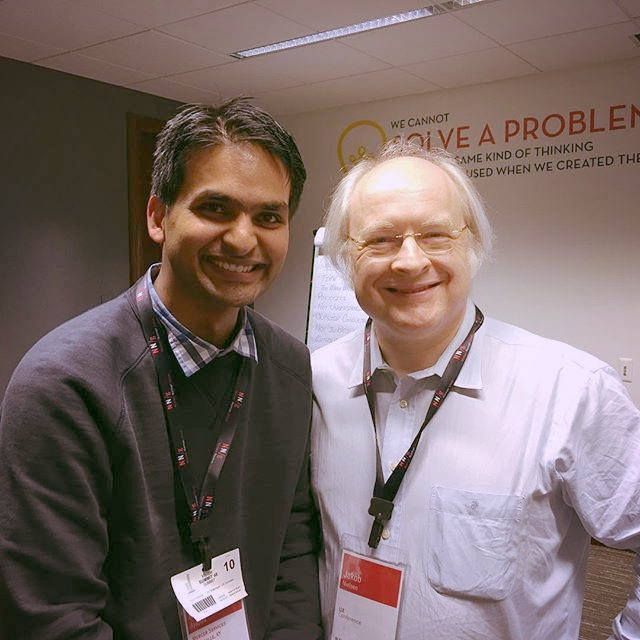With Jakob Nielsen at NN/g training in Chicago 2016