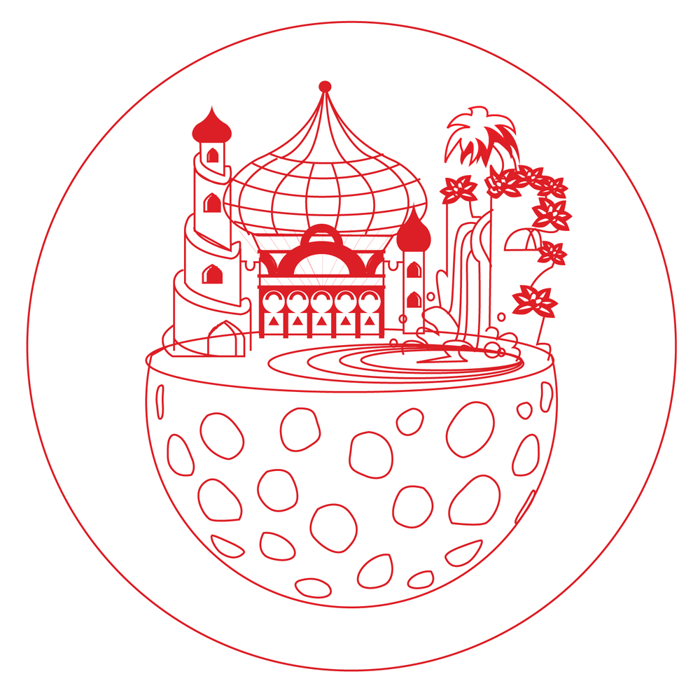 Moon Palace, Adobe Illustrator mock-up