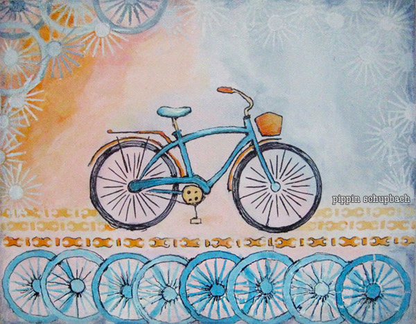 'Blue Bike'  available at    my   Etsy Shop.