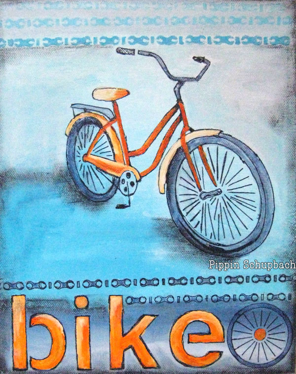 'Orange Bike'  available at  my   Etsy shop.