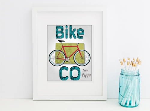 'Bike CO' Digital Download Poster