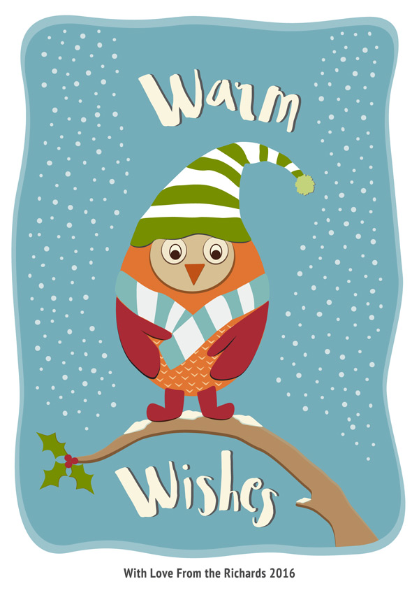 Owl Holiday Card Pippin Schupbach