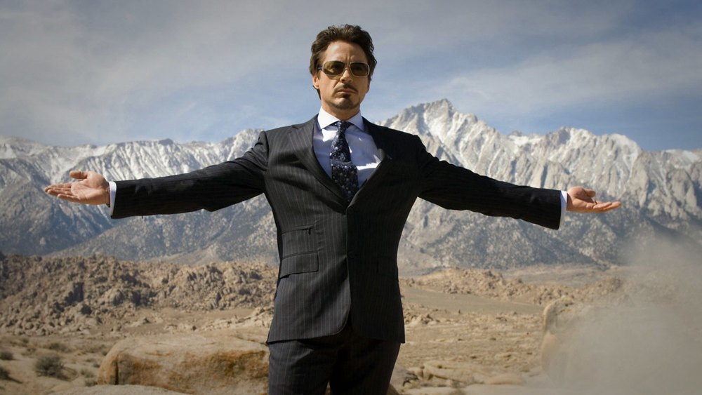 Der spätere 'Iron Man' Tony Stark (Robert Downey Jr.)
