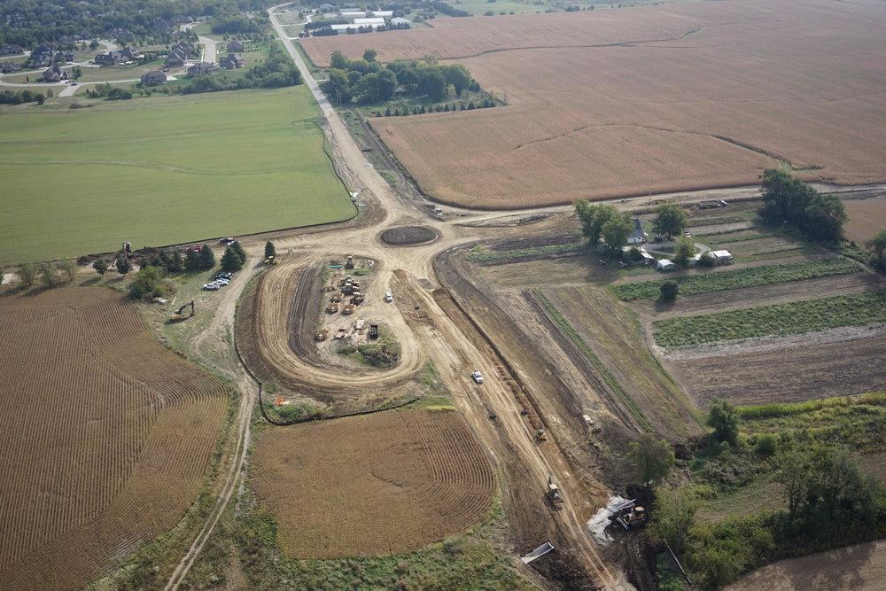 Roundabout Construction