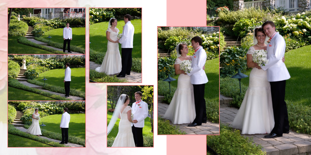 Wedding Album Two-Page Spread