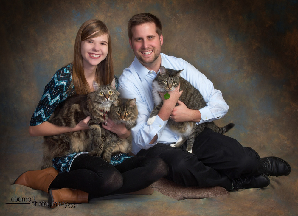 "This Portrait may not look that ""crazy"" or ""daring"", but YOU try bringing THREE CATS..."