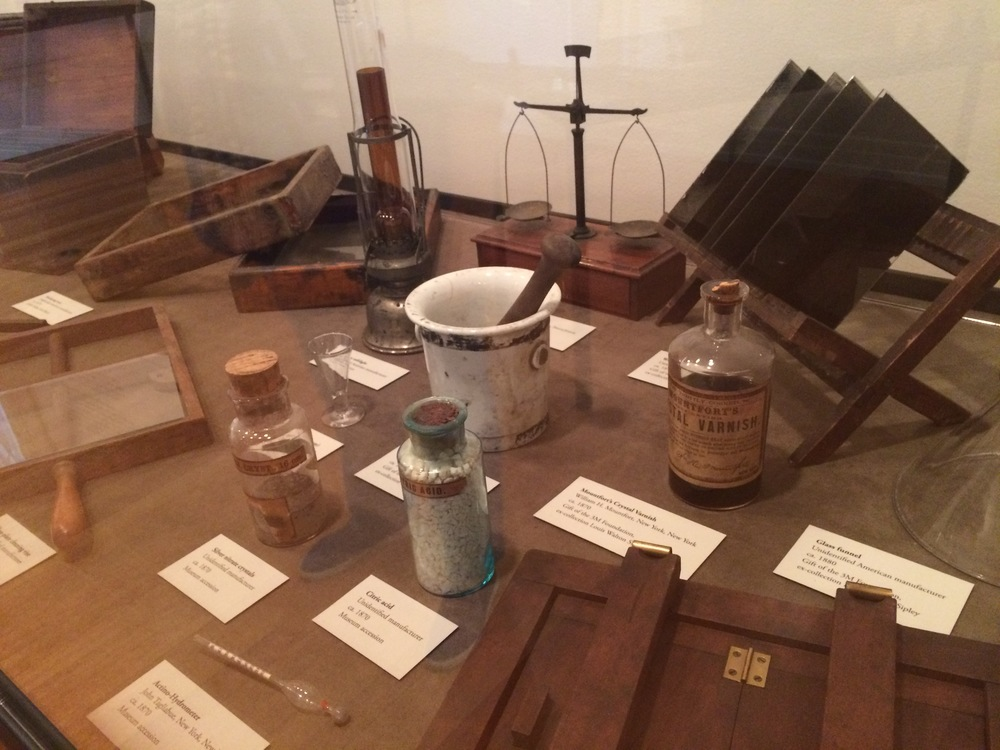 Early photographers had to mix their own chemicals -- smelly and messy!