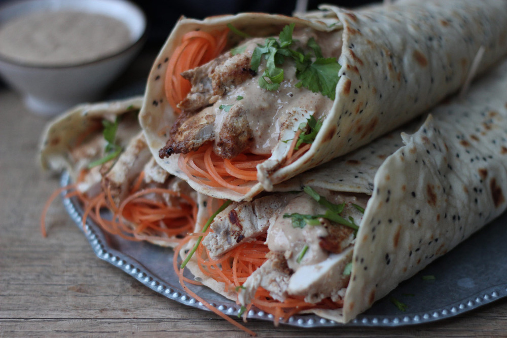 Sous Vide Chicken Wraps