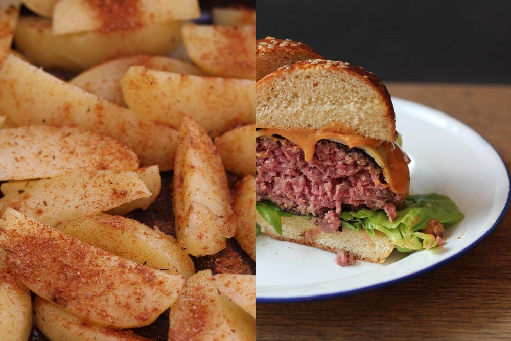 Wedges + Burger