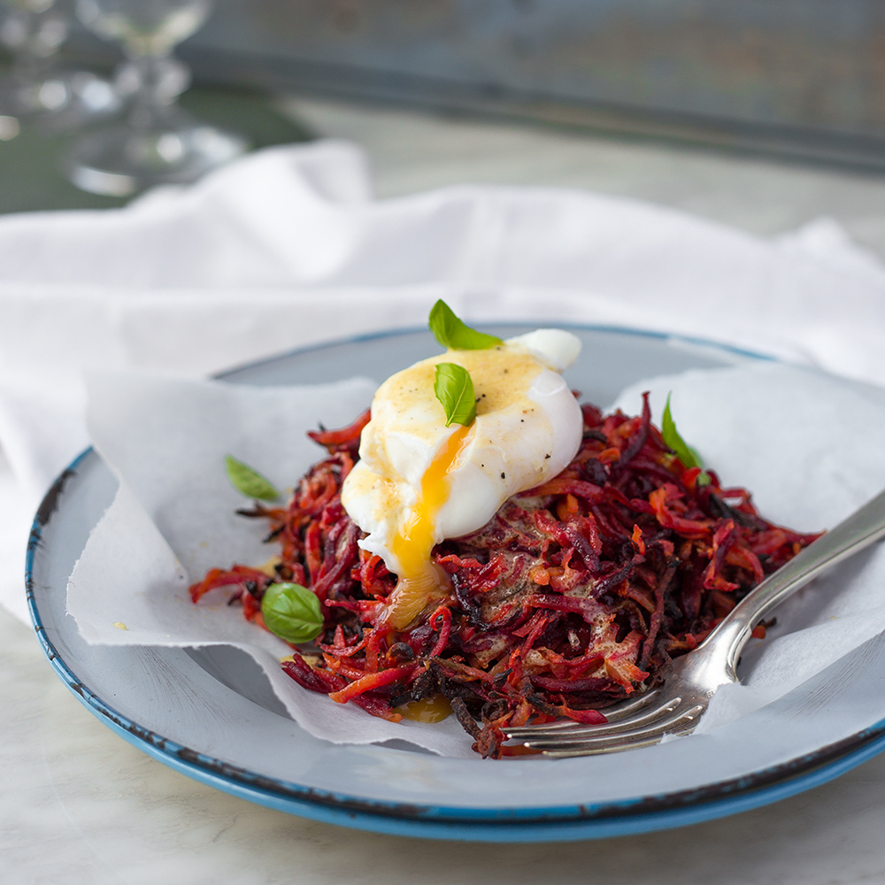 Carrot and beetroot hash