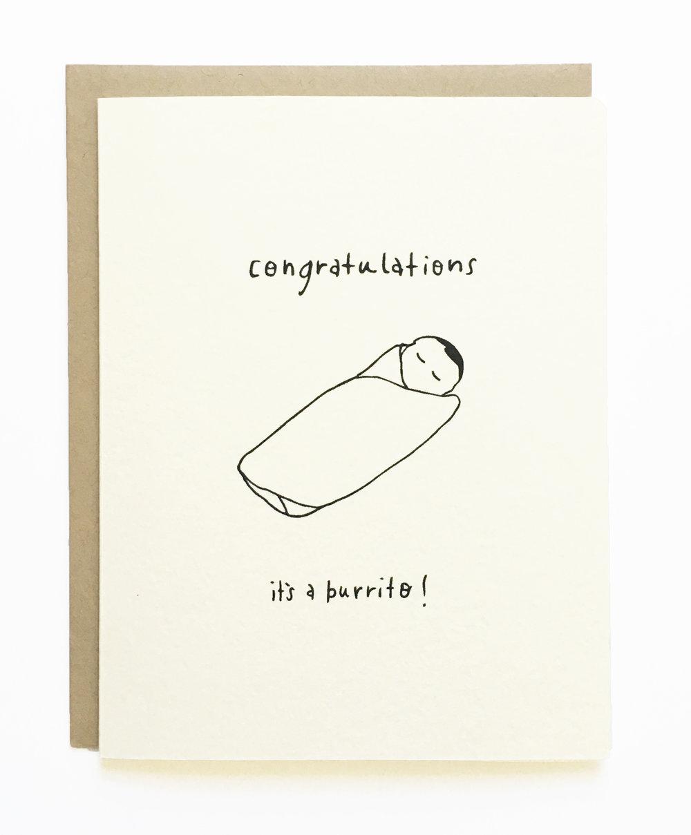 Congratulations - it's a burrito! New Baby