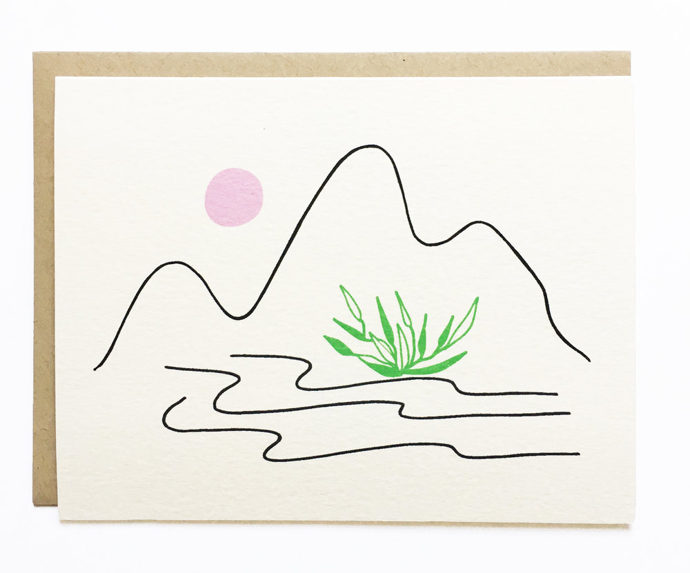 NEW - Landscape - Moon and Mountain