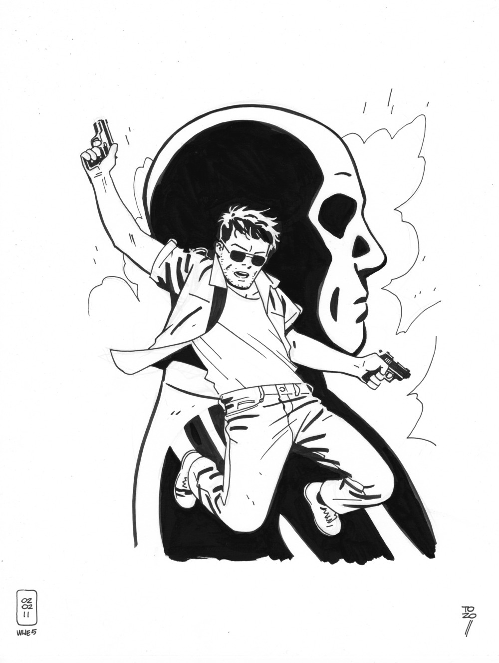 issue five, original ink drawing for the cover.jpg