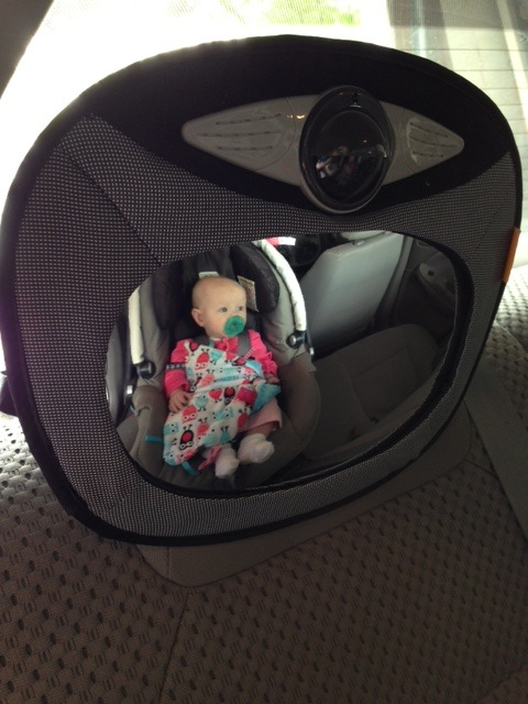 We LOVE being able to see what Elliana is up to  while driving!