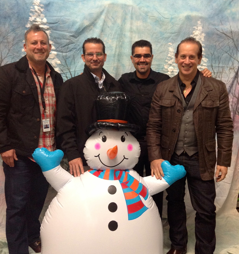 Frosty hung out with Ron, Angelo, Carlos and Frank