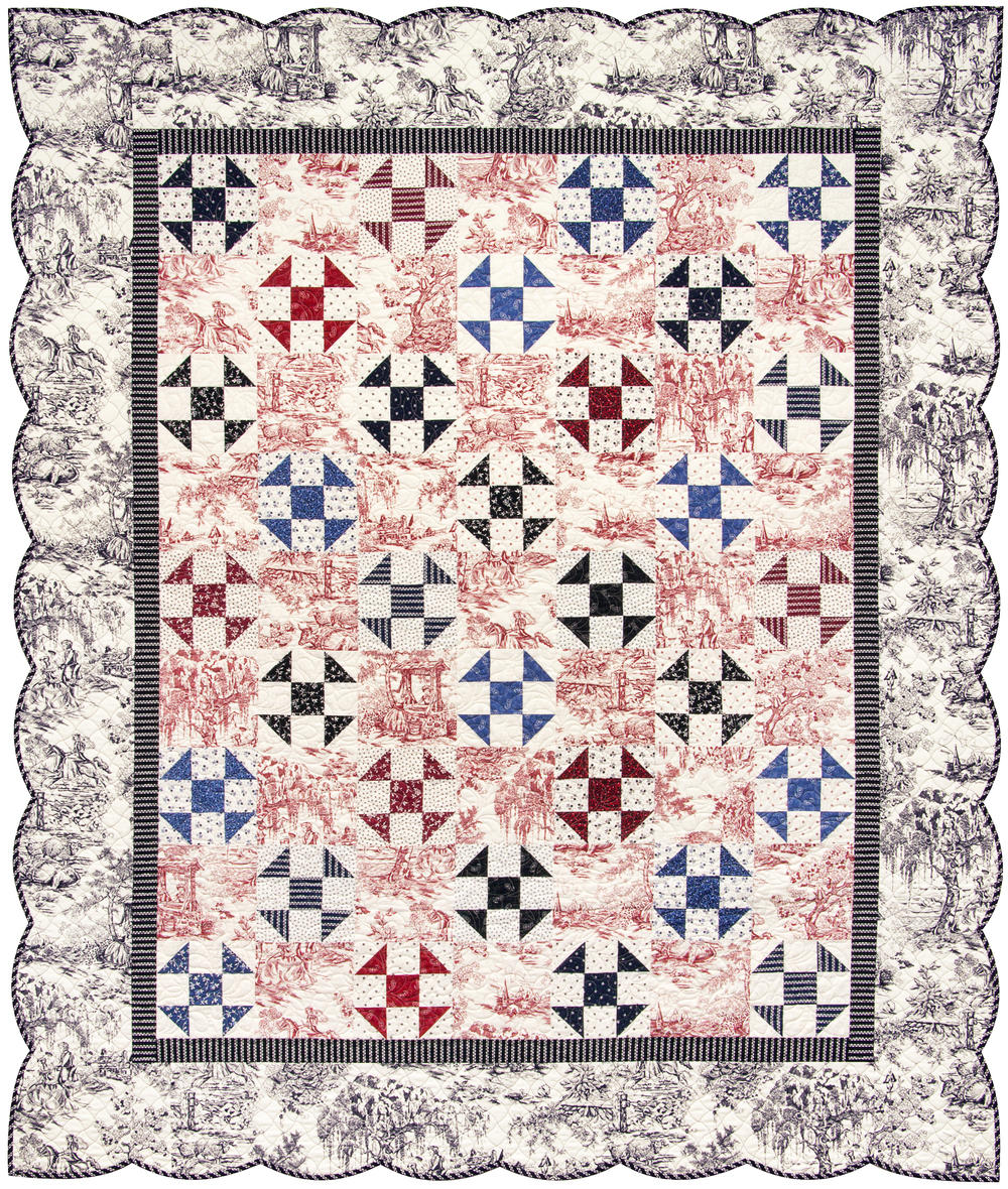 "'Bursting In Air' quilt (62.5"" x 72"") Download the FREE pattern, designed by Darlene Zimmerman, from our Patterns section at robertkaufman.com."