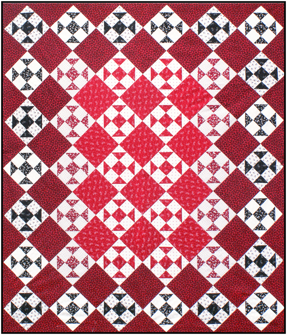 """Classic Colors"" quilt (51"" x 60"") Download the FREE pattern, designed by Darlene Zimmerman, from our Patterns section at robertkaufman.com."